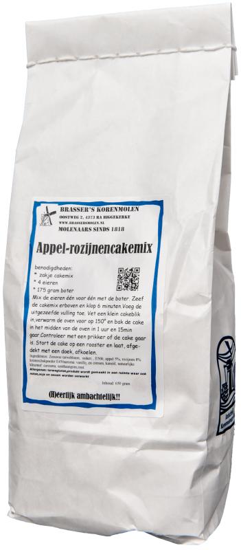 Appel-rozijnencakemix (550 gram)