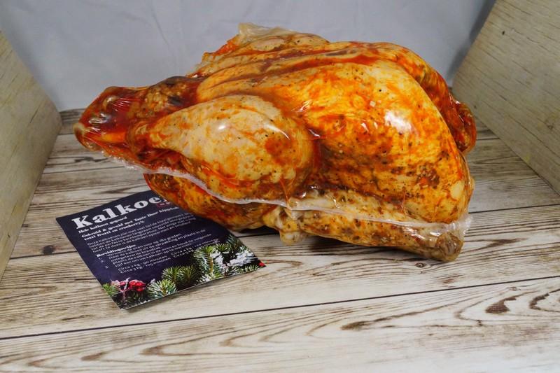 Kalkoen gegaard, gevuld& gekruid 3-5kg-bestelbaar, 24 dec. op te halen