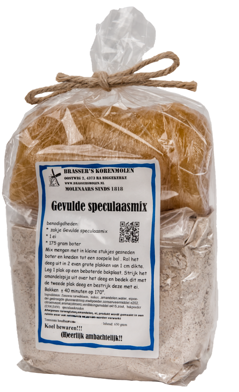 Gevulde speculaasmix (650 gr)