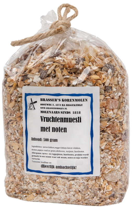 Vruchtenmuesli met noten (500 gr)