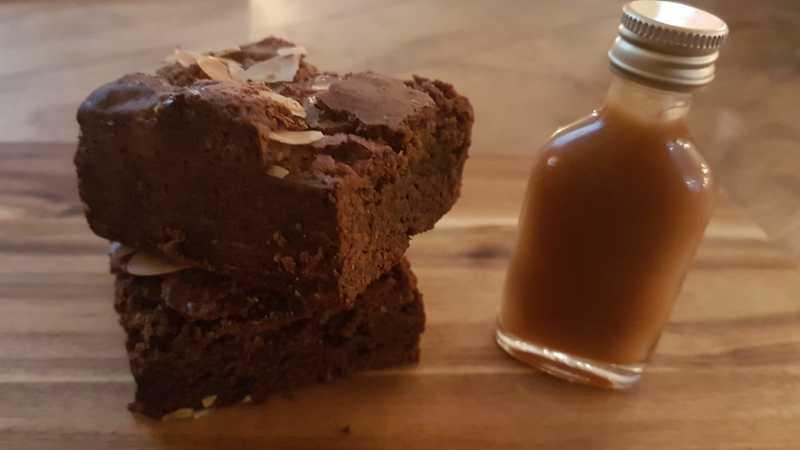 Brownie karamel/zeezout