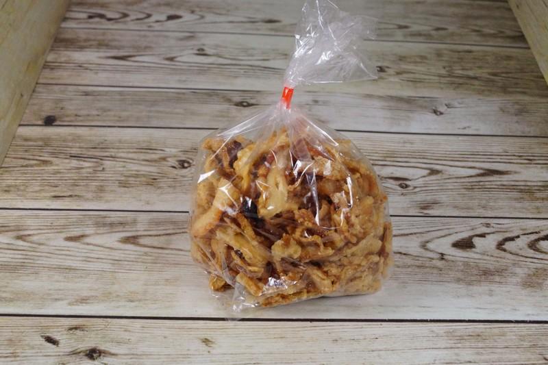Knabbelspekjes Ambachtelijk, zakje 100 gr