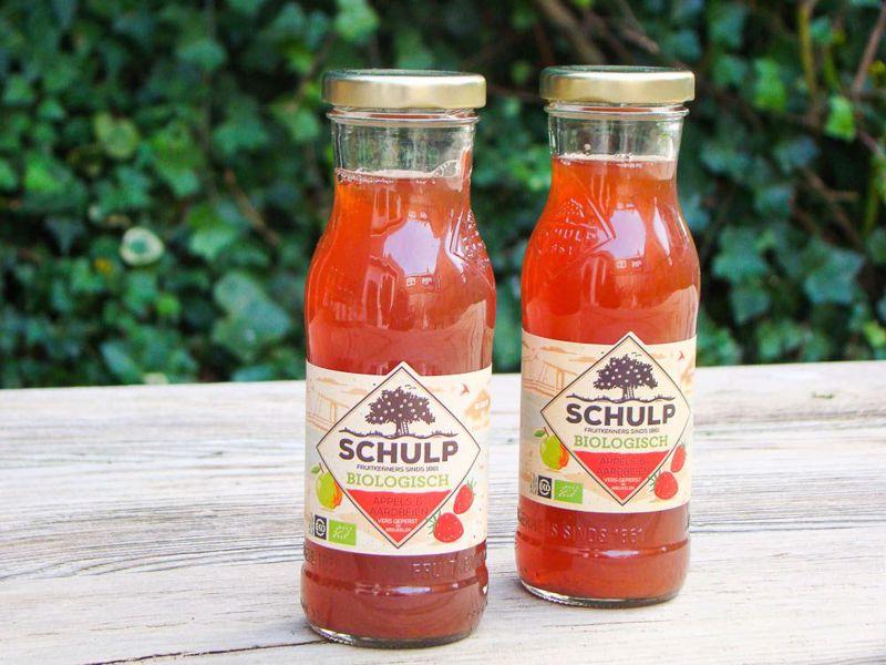 Appel-aardbeiensap Biologisch schulp (200 ml)