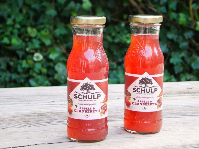 Appel-cranberrysap schulp (200 ml)