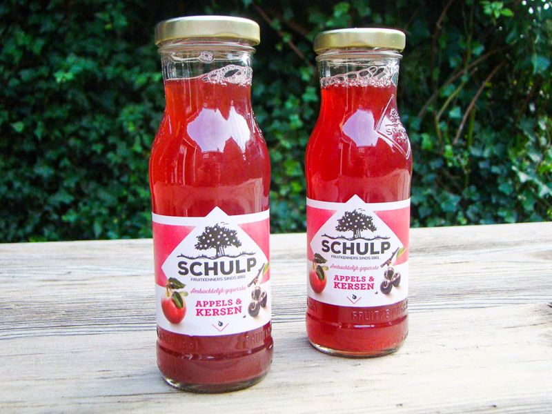 Appel-kersensap schulp (200 ml)