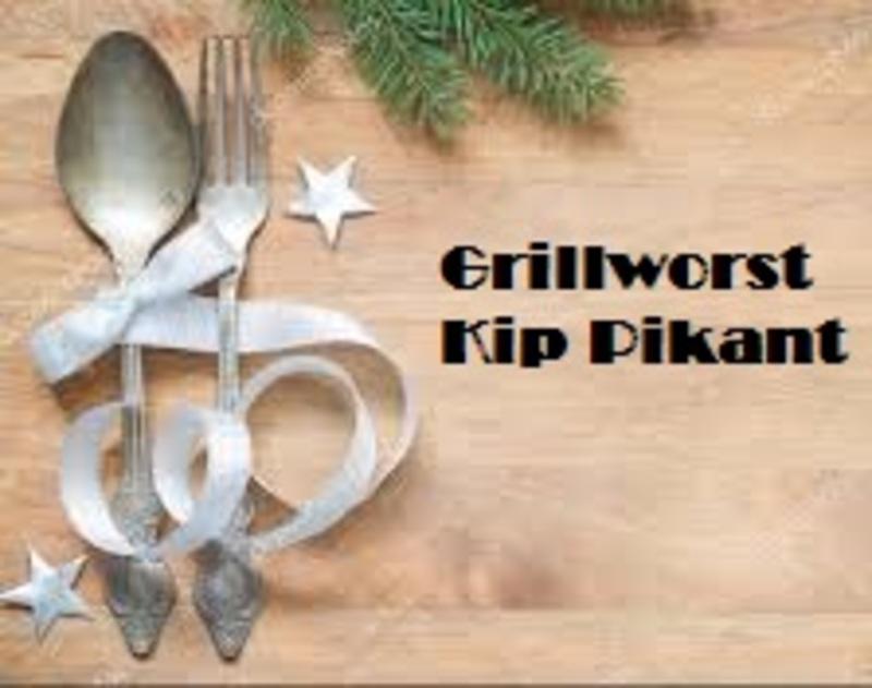 Kip grillworst Pikant, stukje 200 gr  -Tante Door-  100% pure