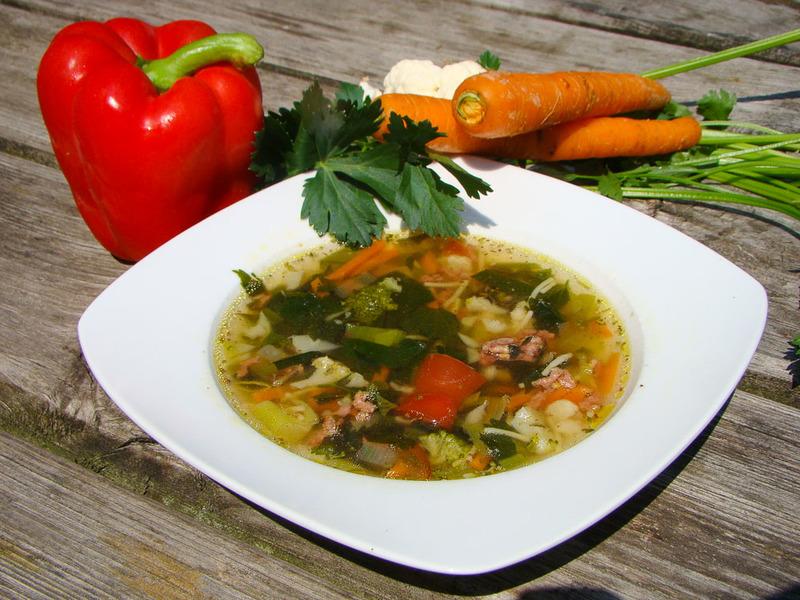 Verse groentensoep