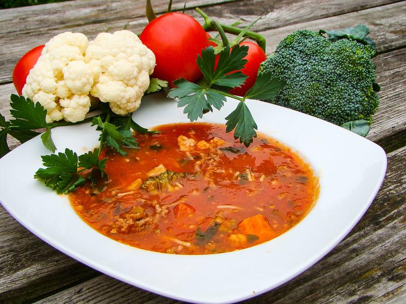 Verse Tomaten soep