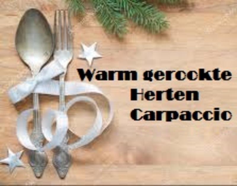 Warm gerookte Herten Carpaccio - nu bestelbaar, 24 december op te halen