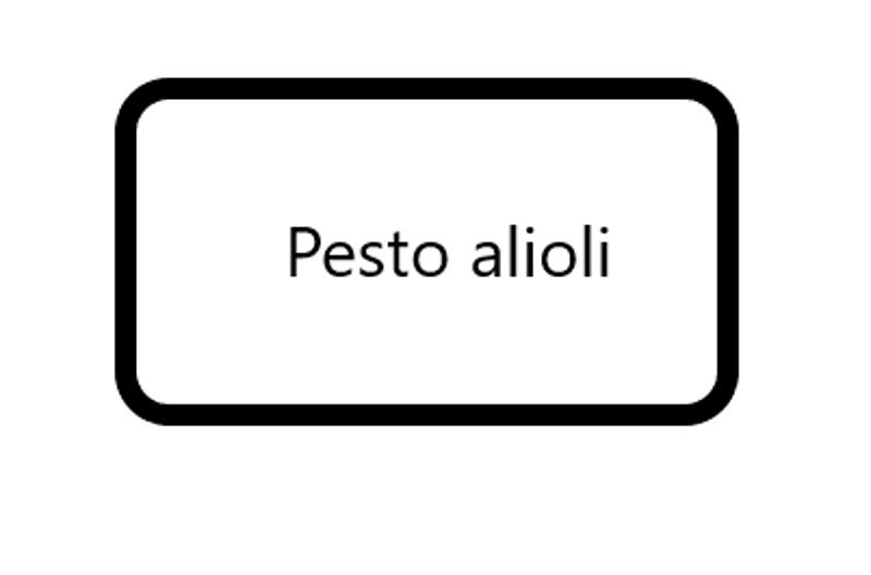 Pesto alioli, 125 gram
