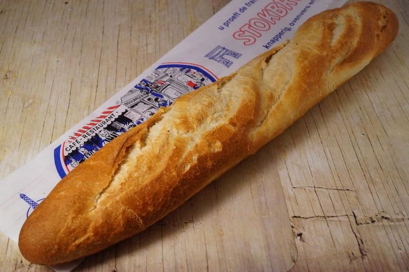 Stokbrood Wit, afgebakken