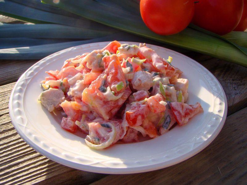 Tomaat-kip salade
