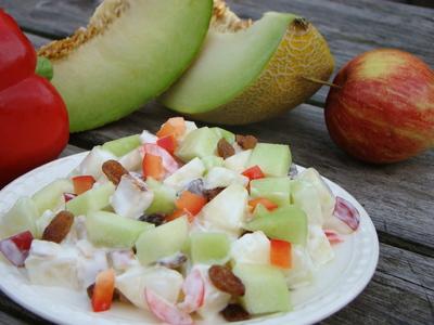 Kip meloen salade (250 gram)
