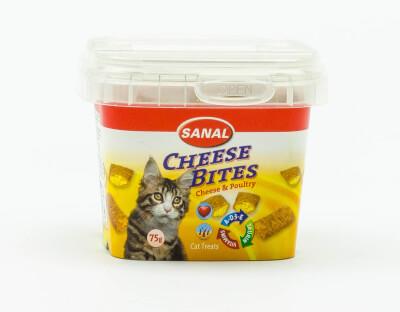 Kaas & kip snacks voor de kat (75 gr.)