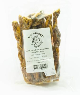 Glutenvrije lamsvleessticks voor de hond (100 gr.)