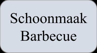 Schoonmaak Barbecue