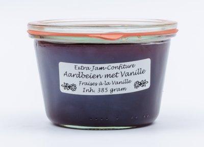 Aardbeien - vanille jam (385 gr)