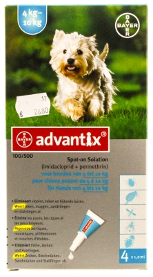 Advantix hond (4-10kg)
