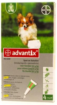 Advantix hond (<4kg)