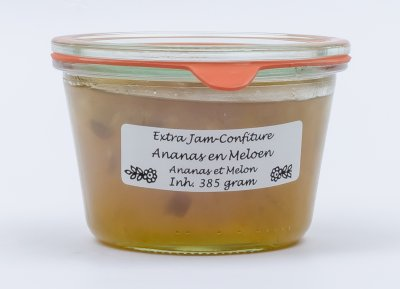 Ananas-meloen jam (385 gr)