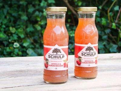Appel-aardbeiensap schulp (200 ml)