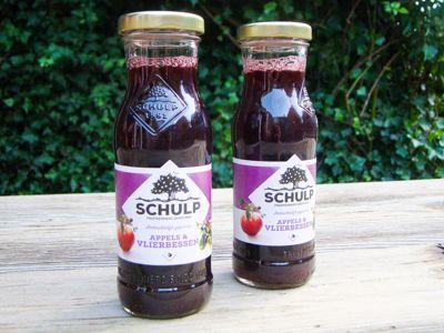 Appel-vlierbessensap schulp (200 ml)