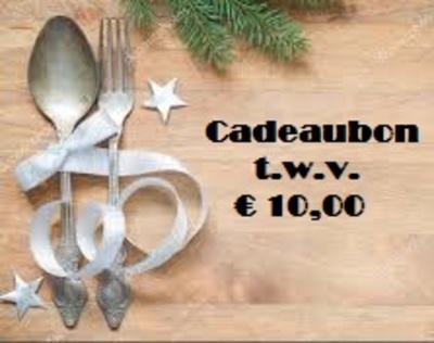 Cadeaubon / Cadeaucheque t.w.v. € 10,00