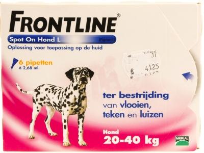 Frontline Spot on hond 6 stuks (20-40kg)