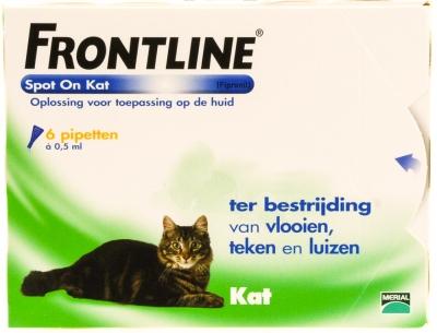 Frontline Spot on kat 6 stuks