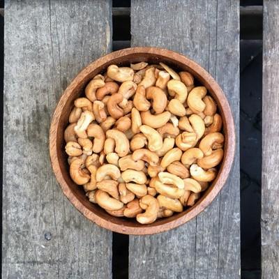 Gebrande cashewnoten gezouten