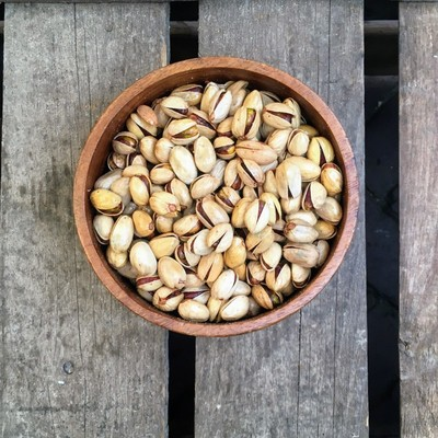Gebrande pistachenoten gezouten