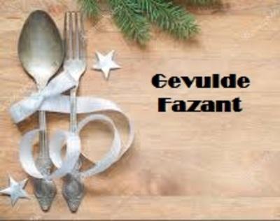 Gevulde Fazant - nu bestelbaar, 23 & 24 december op te halen