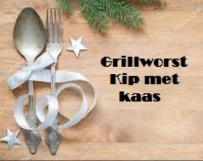 Kip grillworst met Kaas, stukje 200 gr  -Tante Door-  100% pure