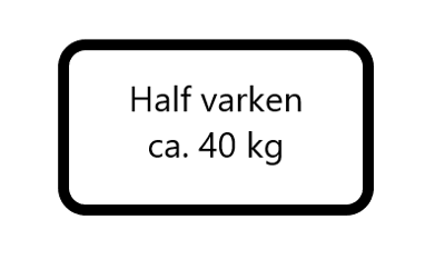 Half varken ( 40 kg)