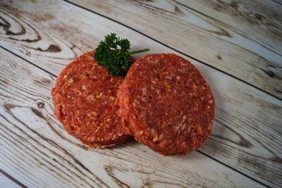 Hamburger half om half
