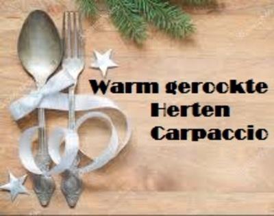 Warm gerookte Herten Carpaccio-bestelbaar, 23 & 24 dec. op te halen