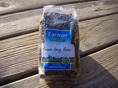 Franse berg linzen  (Zwarte linzen) (500 gram)