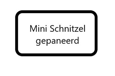 mini Schnitzel gepaneerd