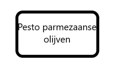 Pesto Parmezaan Olijven, 125 gram