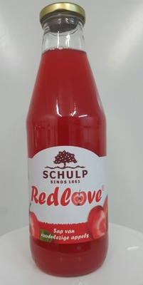 Appelsap 'Red Love' Schulp (750 ml)