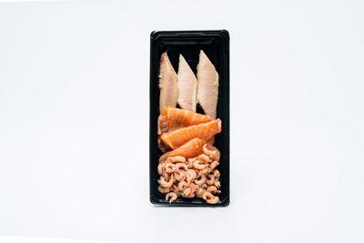 Vistrio met gerookte paling, zalm en Hollandse garnalen