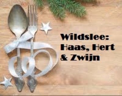Wildslee: Haas, Hert en Zwijn-bestelbaar, 23 & 24 dec. op te halen